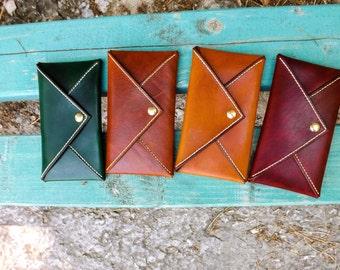 Leather wallet envelope