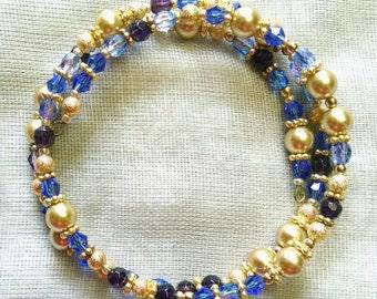 Royal Purples Coil Bracelet