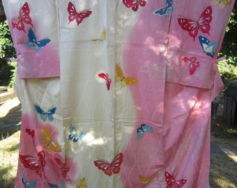 double color butterfly kimono