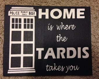 Tardis (Doctor Who) ~ Painted Canvas