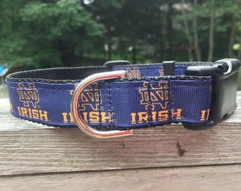 "Notre Dame Dog Collar - Side Release Buckle (1"" Width)"