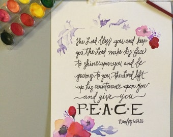 Numbers 6:24-26 Watercolor Painting