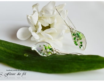 Earrings Calla Lily