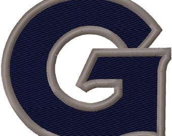 G Solid Fill Embroidery Design 2x2 3x3 4x4 Georgetown INSTANT DOWNLOAD