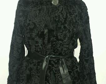 Luxury gift/ Persian karakul Astrakhan Fur jacket/ Fur coat/ Wedding,or anniversary present