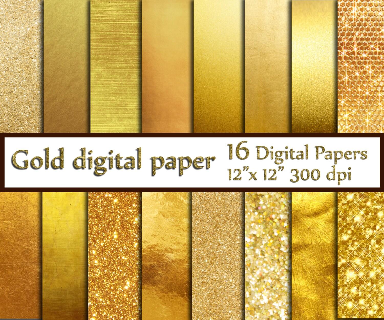 Gold Foil Digital Paper: GOLD DIGITAL PAPER