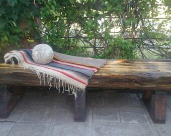 Ponderosa pine bench
