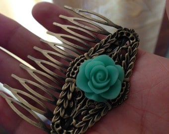 blue flower  hairpin jewelry Christmas gifts