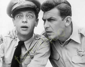 Andy Griffith and Bug Eyed Barney 8x10 Photograph