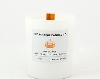 Lavender & Vanilla Soy Candle