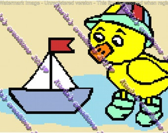 Baby Ducky With Boat Crochet Graph