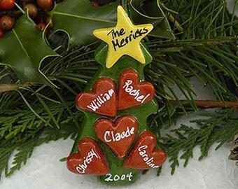 Personalized Dough Ornament Christmas Ornament Salt Dough Ornament Family Christmas Ornament Family Gifts Personalized Family Ornament