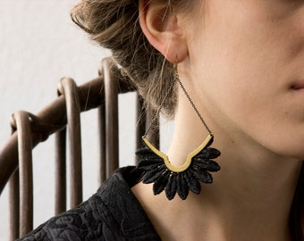 Setting sun - earrings with tip