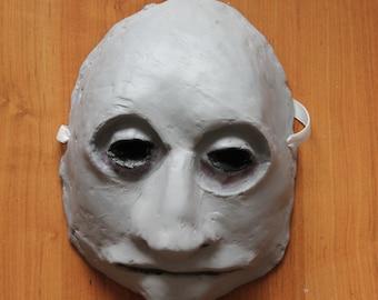 Gravekeeper Mask | Paper Mache Mask | Halloween Costume | Halloween Mask | Paper Mask | Gravedigger Mask | Graveyard Mask | Ghoul Mask
