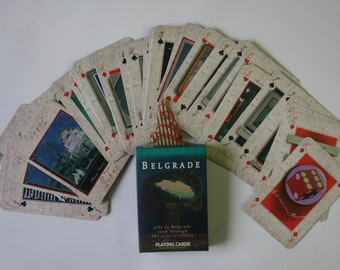Playing Cards depicting life in Belgrade - Full Deck of Cards