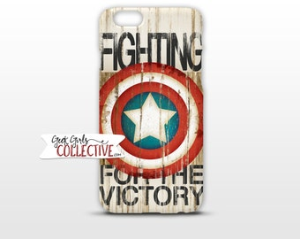 Captain America Phone Case -Comic Art, Vintage, Superhero, Electronics, Accessories, iPhone, Samsung, Victory -Red White Blue