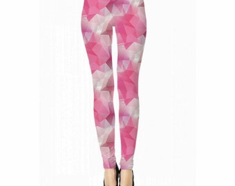 Pink Polygon Leggings