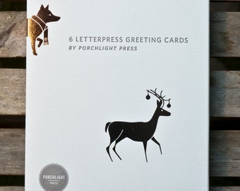 Snow tracks- Holiday Greeting Card Set