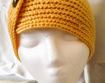 Crochet ear warmer, head wrap, winter headband
