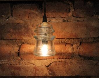 Glass insulator pendant light