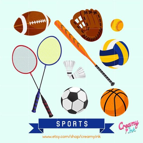 Sports Digital Vector Clip Art Sport Game Clipart