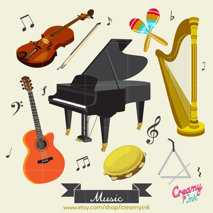 Music Instrument Digital Vector Clip art / Musical Instrument