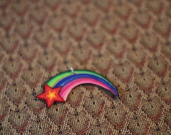 Rainbow shooting star