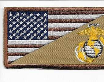 Afghanistan Iraq United States Marine Corps USMC Shoulder Desert Subdued Patch