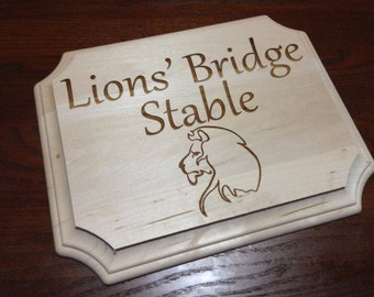 Custom Engraved French Corner Sign
