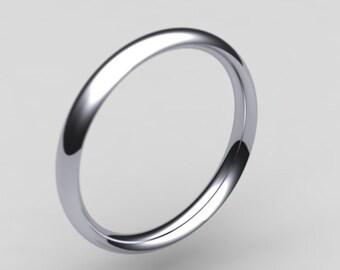 Platinum 950 3mm medium  courtshape / wedding ring / wedding band / 3mm ring / 3mm band / 3mm court ring / eternity ring / engagement ring
