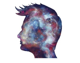 Tenth Doctor Who Tennant Space Art TARDIS Painting Poster