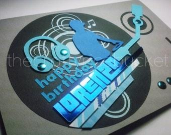 Personalized Happy Birthday Greeting Card - DJ