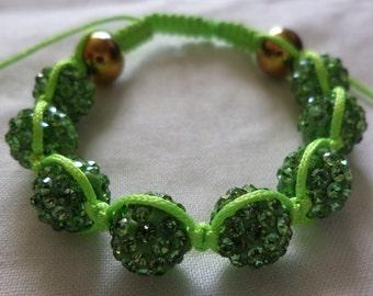 Electric Green - Shamballa Bracelet