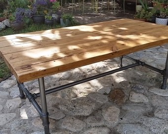 Industrial old wood coffee table