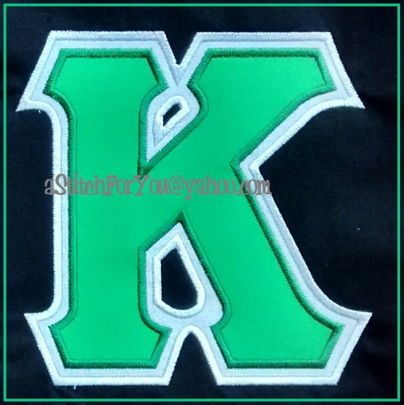 Greek letters sorority kappa double applique by astitchforyou