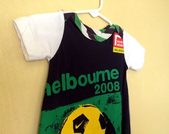 Melbourne Soccer Snuggle Sack. Your baby is one of a kind, dress them that way.