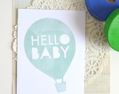 Baby Shower Card - Hello Baby - New Baby Card - Congratulations - Expecting - New Parents Card - Gender Neutral Baby Card - New Baby