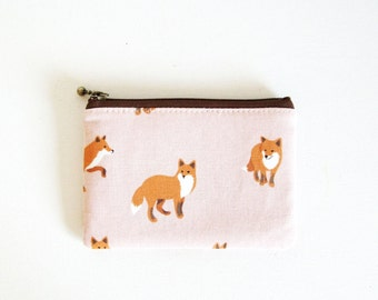 mini zipper pouch  - Fox