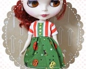Pumpkin Party / One-of-a-Kind Doll Dress for Blythe