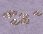 10 Pairs Gold Metal Alloy Strap Sliders - 3/8 inch (M810GO-10)