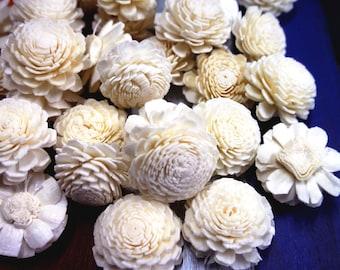 45 Jasmine Sola Wood Diffuser Flowers 3.5 cm Dia.