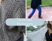 3 Crochet Patterns Discount Sale: Shrug/Cardigan-The X-Stitch, Elegant Sparkle, & Somerset Shrugs