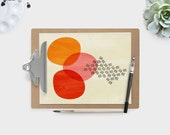 abstract III - illustrated art pirnt- printed on Japanese matte fine art cotton paper