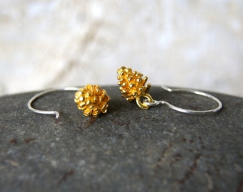Gold Pine Cone Earrings - Gold Pinecone Earrings - Pine Cone Earrings - Pinecone Earrings - Woodland Fashion - boho chic - Woodland Wedding