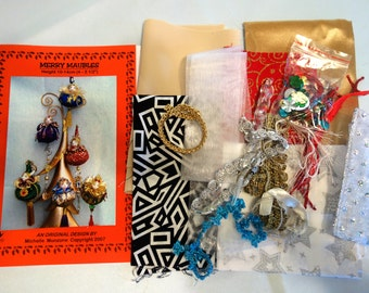 CHRISTMAS Ornaments, Merry Maubles, PATTERN & KIT, Tutorial, Instructional, Kids Projects, Michelle Munzone, Kids Craft, Supplies, Bambole