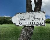 WEDDING ARROW, Wedding Sign, Shabby Chic Wedding, Vintage Inspired Wedding Sign, Directional Arrow Sign, Rustic Wedding Sign