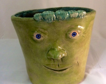 SALE Face Planter with ride along caterpillar - Chartreuse