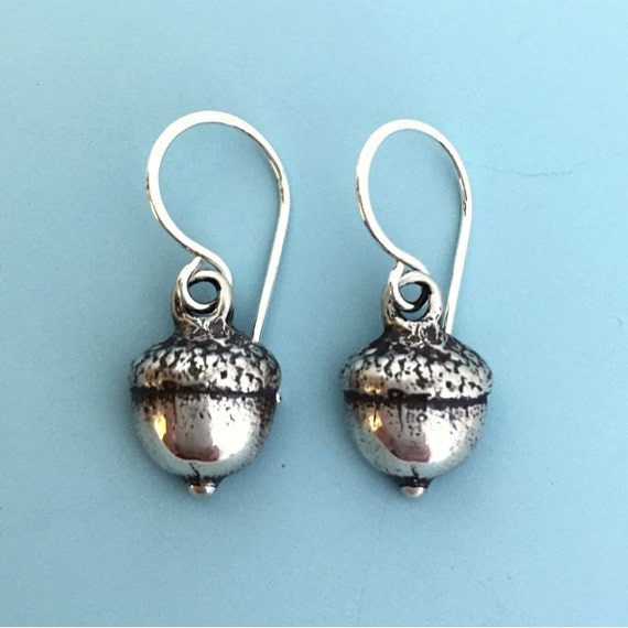 Sterling Silver Acorn Earrings - Last Minute Gift