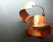 Copper Hoops Hammered (large)