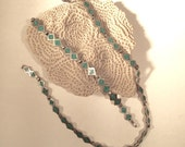 Great Vintage Taxco Mexico Sterling & Turquoise Necklace and Bracelet